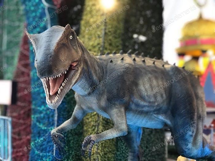 Dinosaur in a theme park