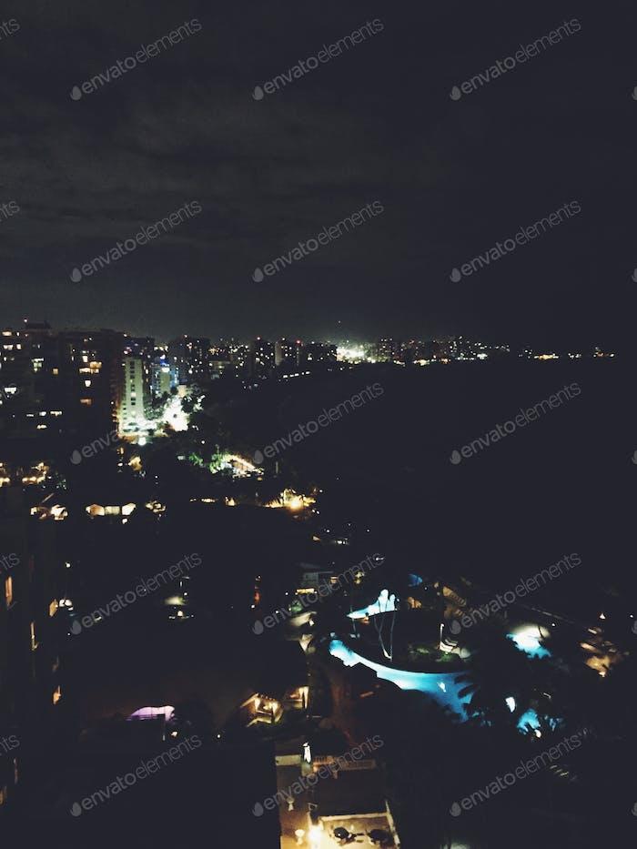 San Juan Skyline night view