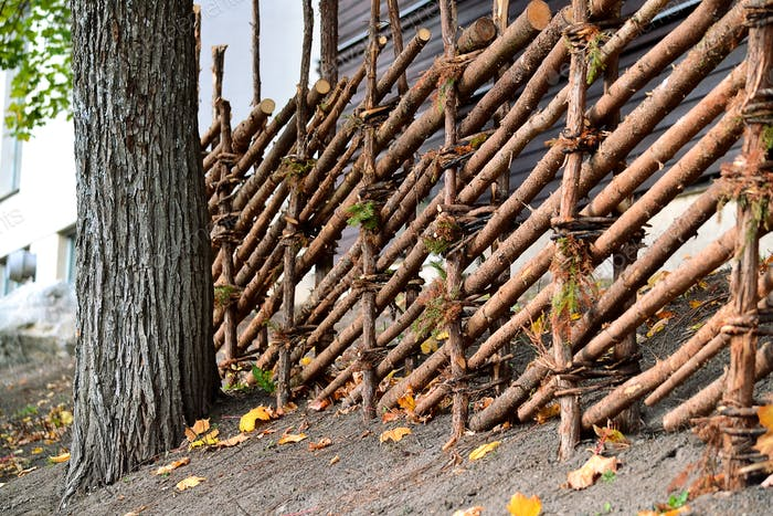 A fence built in old style
