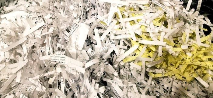 Zerstörung von Dokumenten