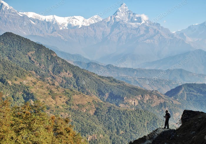 So small against the awe inspiring Himalayas