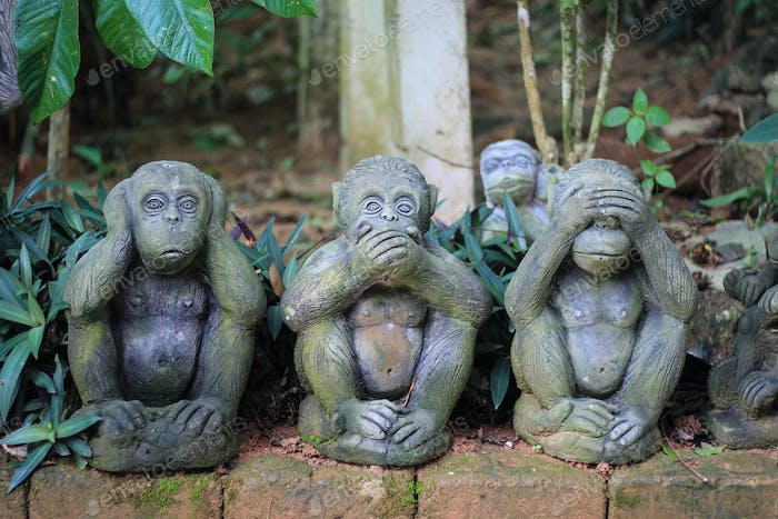 Three Wise Monkeys - see no evil, hear no evil, speak no evil