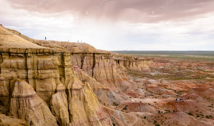 Schlucht in der Gobi Wüste der Mongolei
