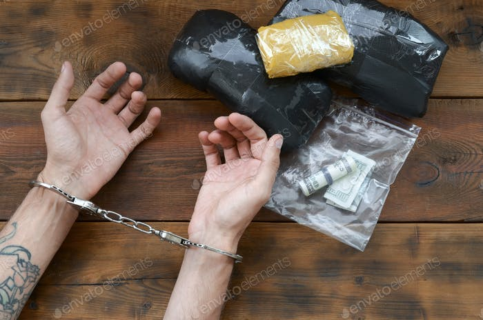 Drug trafficker arrested with their heroin packages