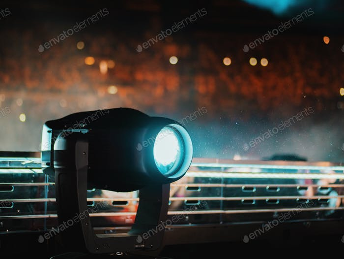 Stage illumination light equipment and projector