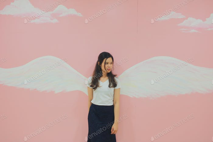 Angel in wings.