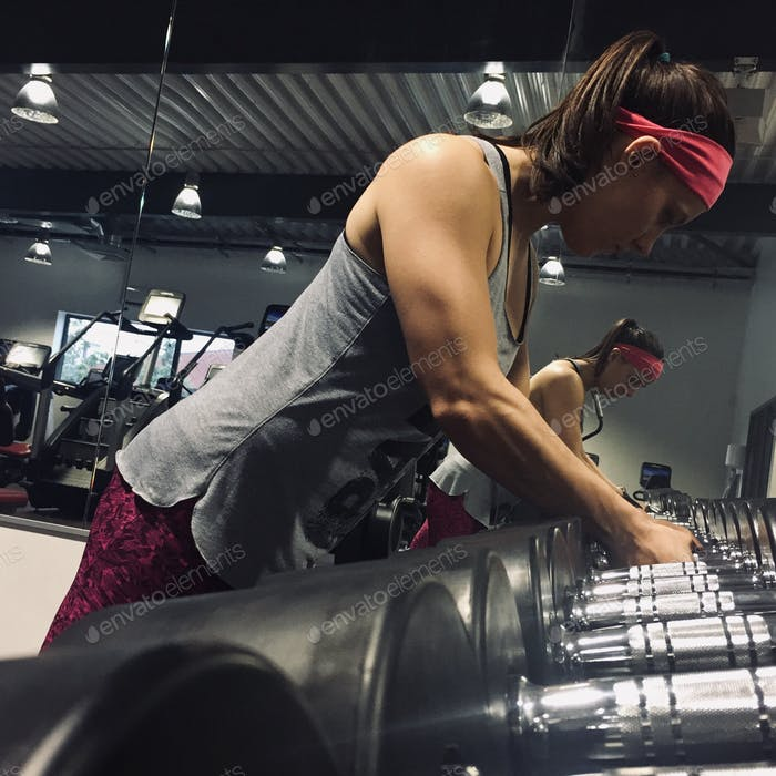 Millennial Woman at the gym