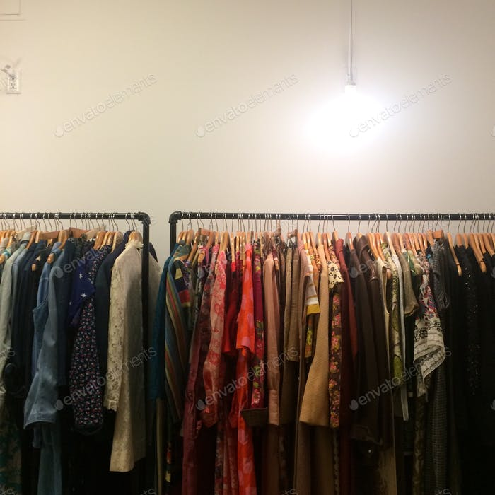 Vintage Clothing in Chinatown, Los Angeles.