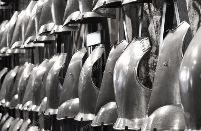 Rows of Armor in the Tower of London