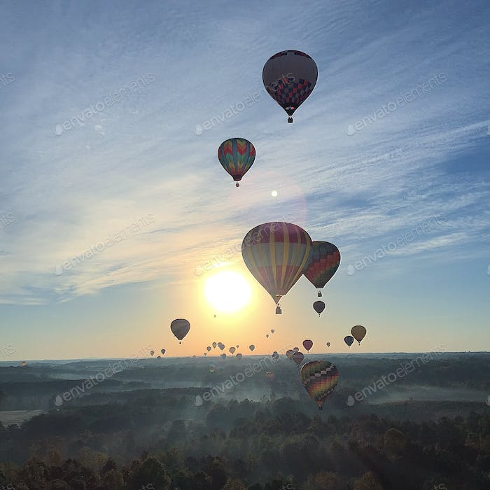 What an incredible experience watching all of these gorgeous balloons ascend while my balloon ascend