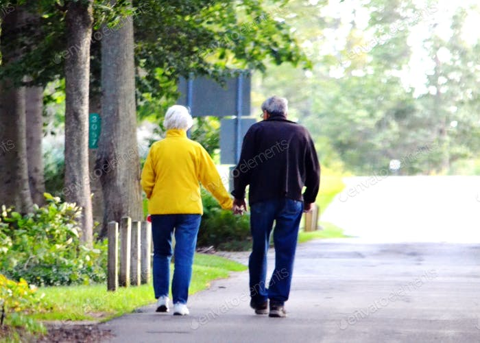 Baby boomers taking a stroll.