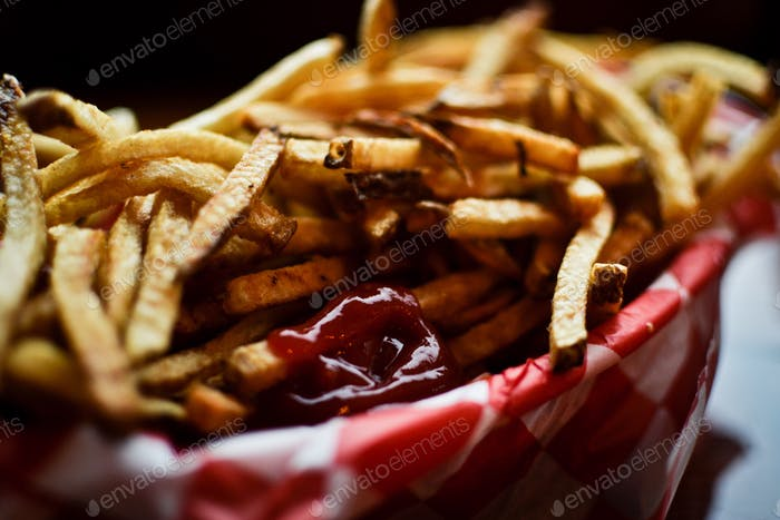 ketchup and fries, Seattle.