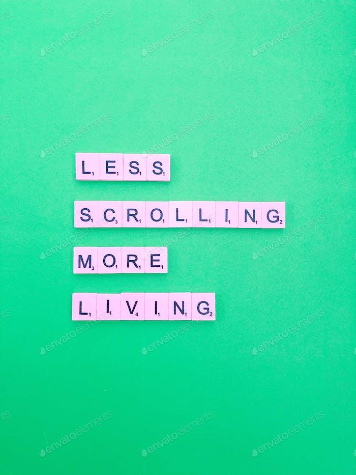 Less scrolling