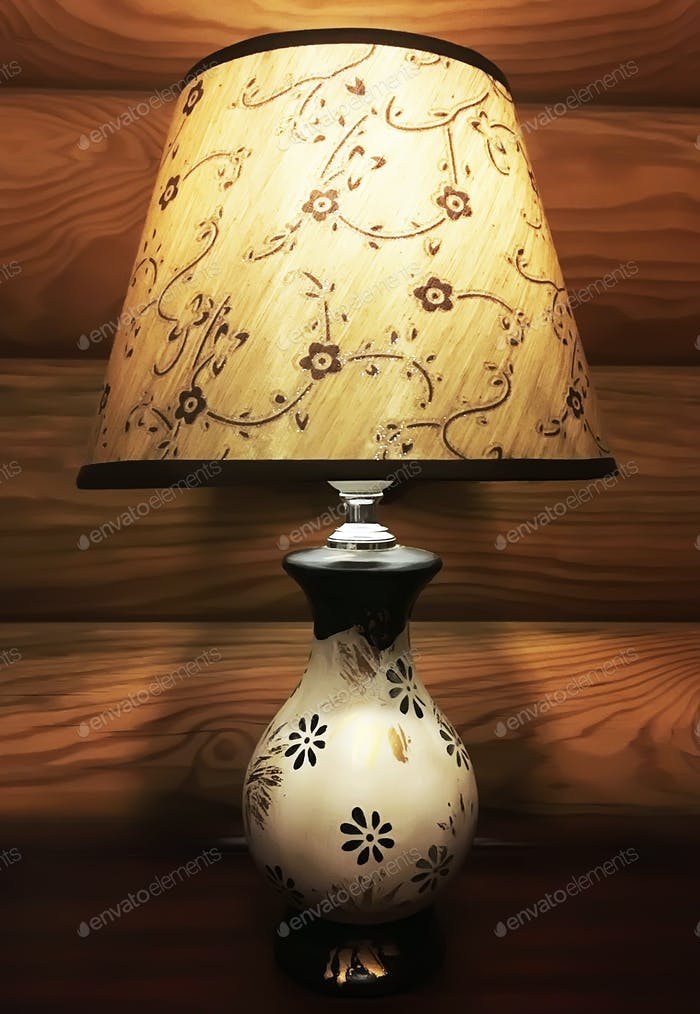 Brown lampshade on wood background  🔥🔥🔥NOMINATED ALREADY 🔥🔥🔥