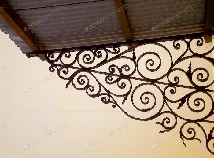Fancy ironwork detail