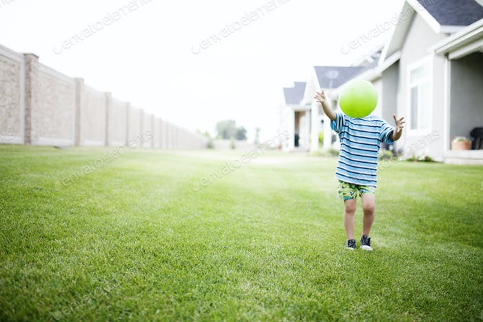 outside playing ball