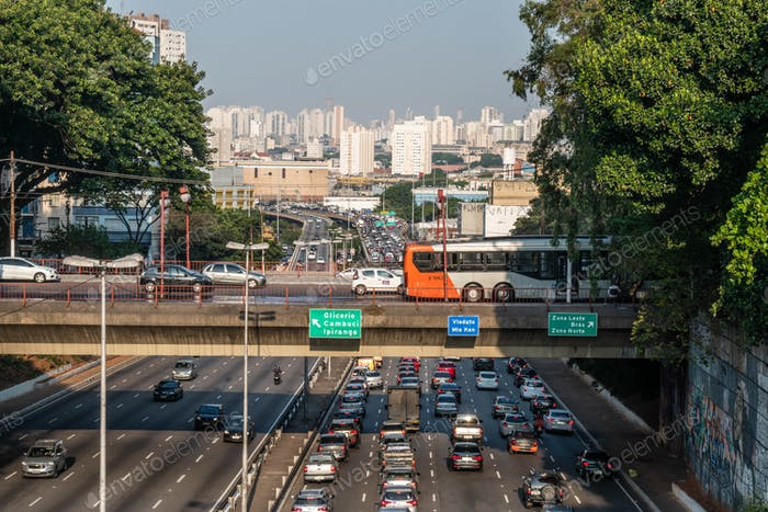 View of São Paulo, Brazil from Japanese neighborhood