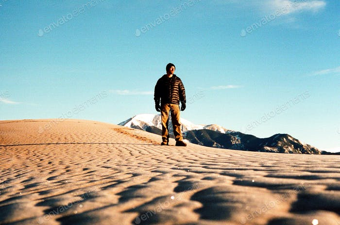 Frank on the Sand Dunes