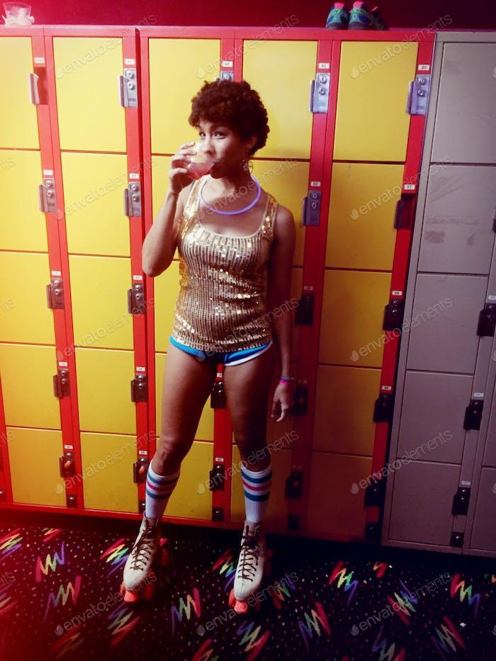 70er Jahre Roller Disco Nacht