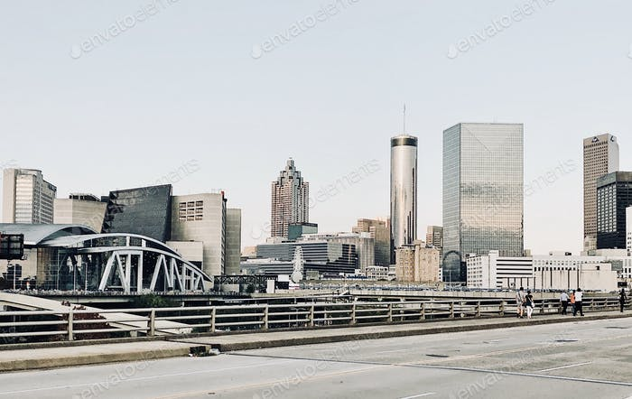 View of the Atlanta Downtown Cityscape