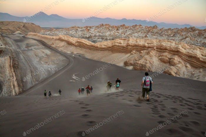 Valle de la luna, moon valley in Atacama Desert Chile