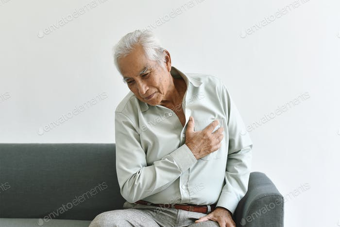 Heart attack disease problem in old man