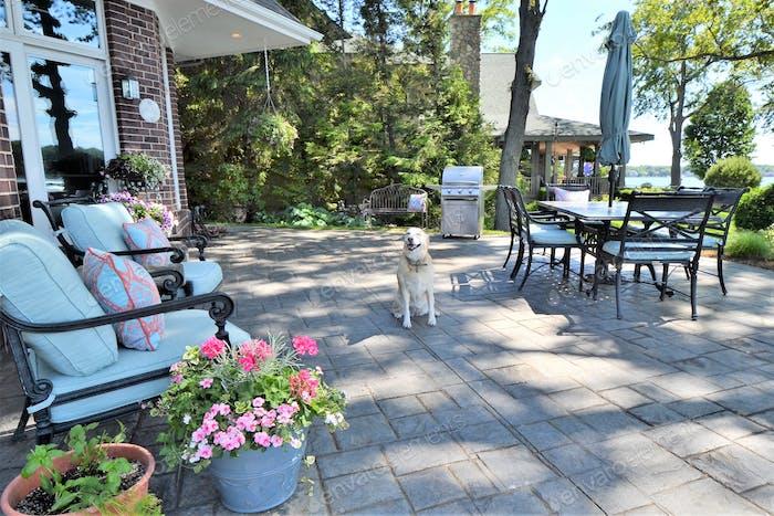 Backyard patio living space