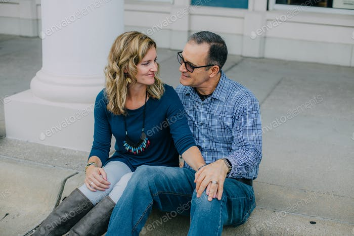 Portrait of a happy couple in their 40s/50s.