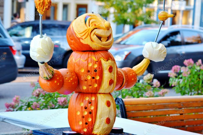 Fall festival carved pumpkin!