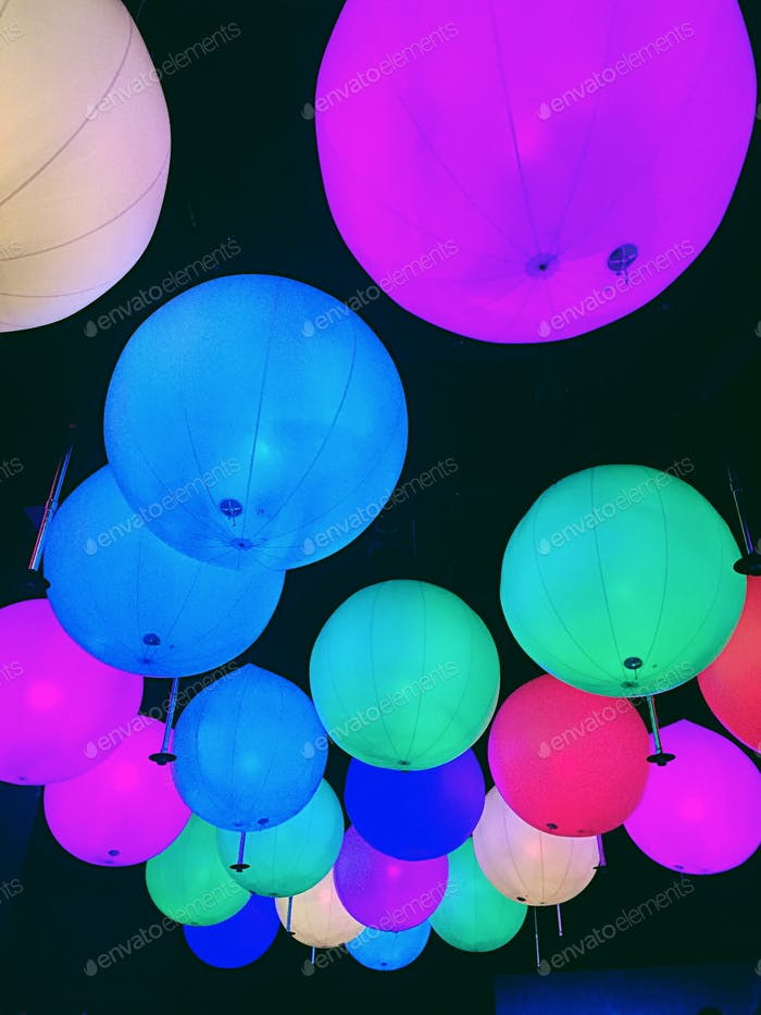 Colourful decors.