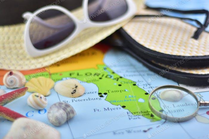 Miami lag flach Karte