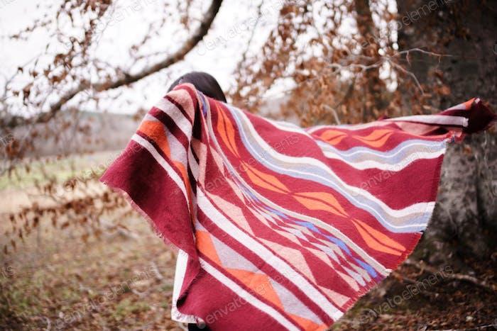 Cozy blanket love in fall