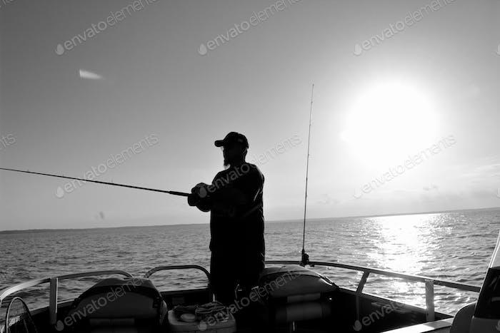 Husband fishing