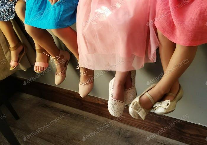 little girl fancy dress-up princess party shoes