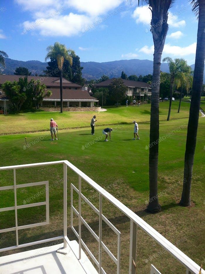 Senior Community Golfing