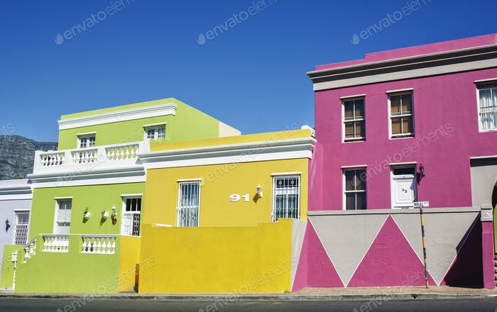 Bo Kaap houses, Cape Town, Western Cape, South Africa