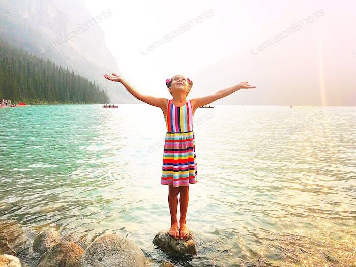 Lake Louise travel with kids