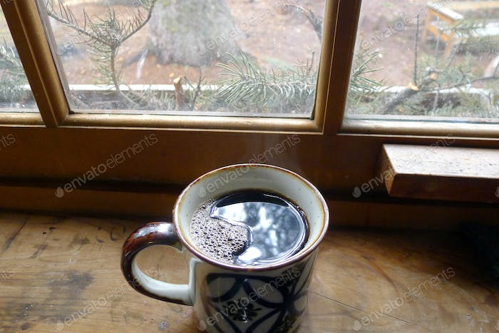 Coffee at the Cabin