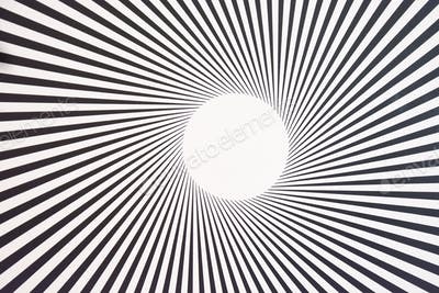 Kinetic art background, black and white