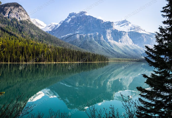 Reflections in Emerald Lake
