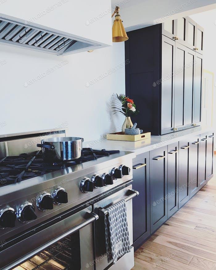 Kitchen decor gas range