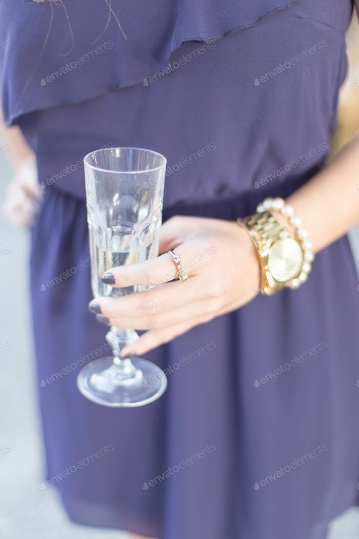 Kate spade inspired champagne drink