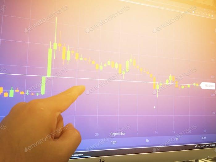 Geschäfts- und Markthandelskonzept