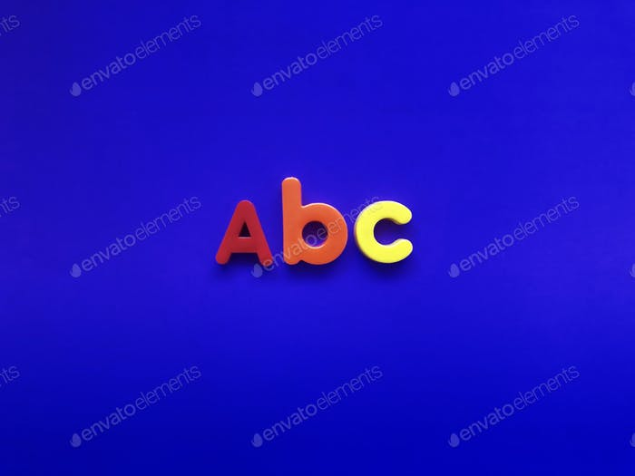 ABC alphabets. letters. fridge magnets.