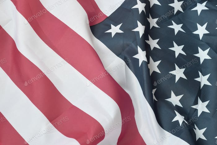 Estados Unidos de América ondeando bandera con muchos pliegues