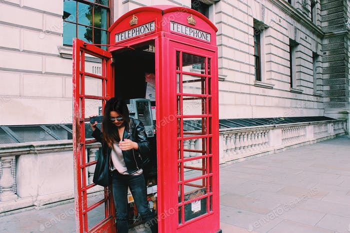 London phone booth.