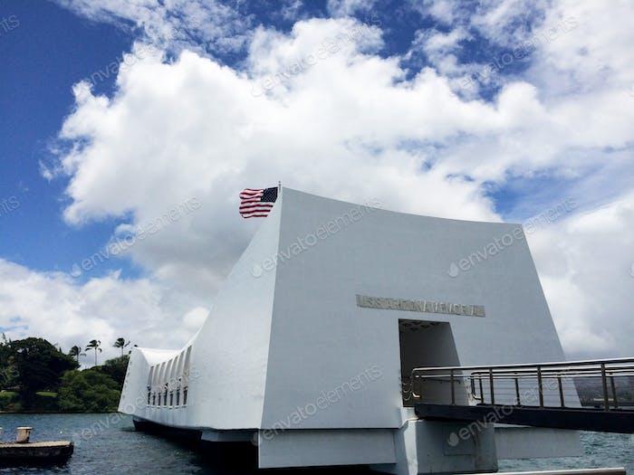 Pearl Harbor Memorial. Hawaii. The USS Arizona Memorial, at Pearl Harbor in Honolulu,