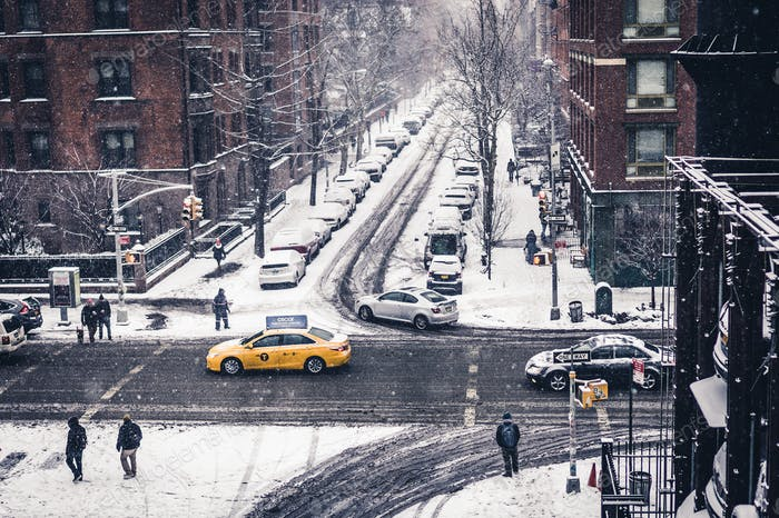 NYC winter view from the Highline Park // Manhattan, NY, USA