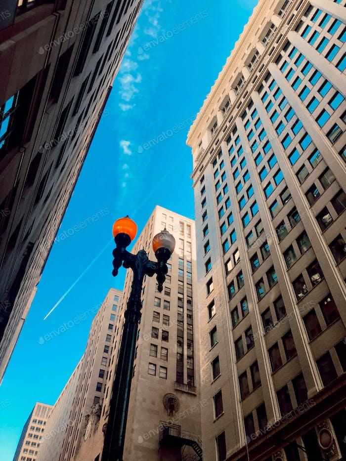 Chicago streets, Chicago sky
