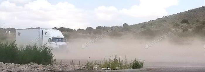 Trucking! Dust Storm!